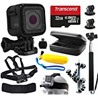 GoPro HERO5 Session HD Action Camera (CHDHS-501) with 11 Piece Accessories Bundle includes 32GB Card + Selfie Stick + Case + Head/Chest Strap + Floating Handle + Octopus Tripod + Card Reader + More