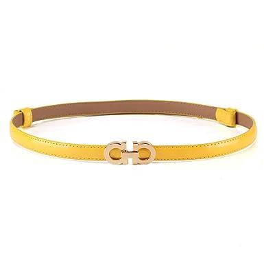 WOAIWJXYZ Cinturón unisex Cinturón de cuero con falda delgada ...