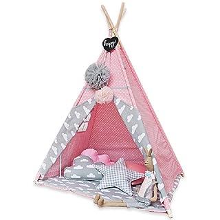 Tende giocattolo Castle Pink Gift Toy Lettura Angolo Toy Room Grande Spazio Pieghevole per Bambini Tenda 120cm Nursery Game House (Color : Pink, Size : 120 * 110 * 160cm)