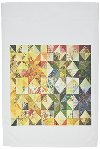 - 3dRose fl_174243_1 Image of Multi Color Quilt Garden Flag, 12 by 18-Inch