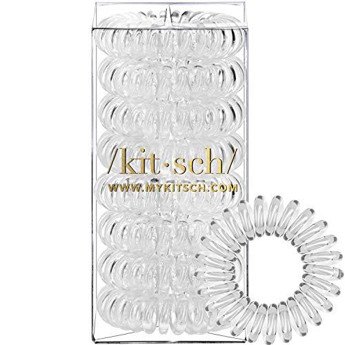 Kitsch Spiral Hair Ties Coil Hair Ties Phone Cord Hair Ties Hair Coils  8 Pcs Transparent