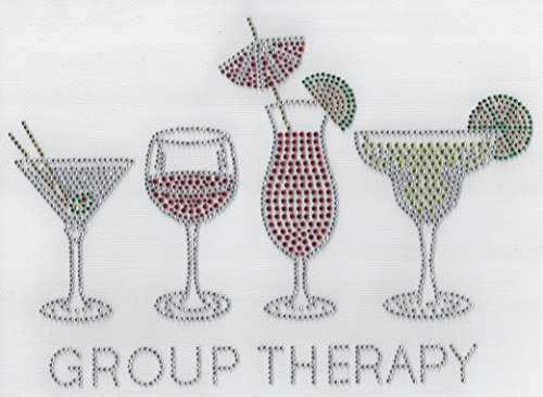 Group Therapy Rhinestone Hot Fix hotfix Heat Press MOTIF applique decal - Therapy Rhinestone