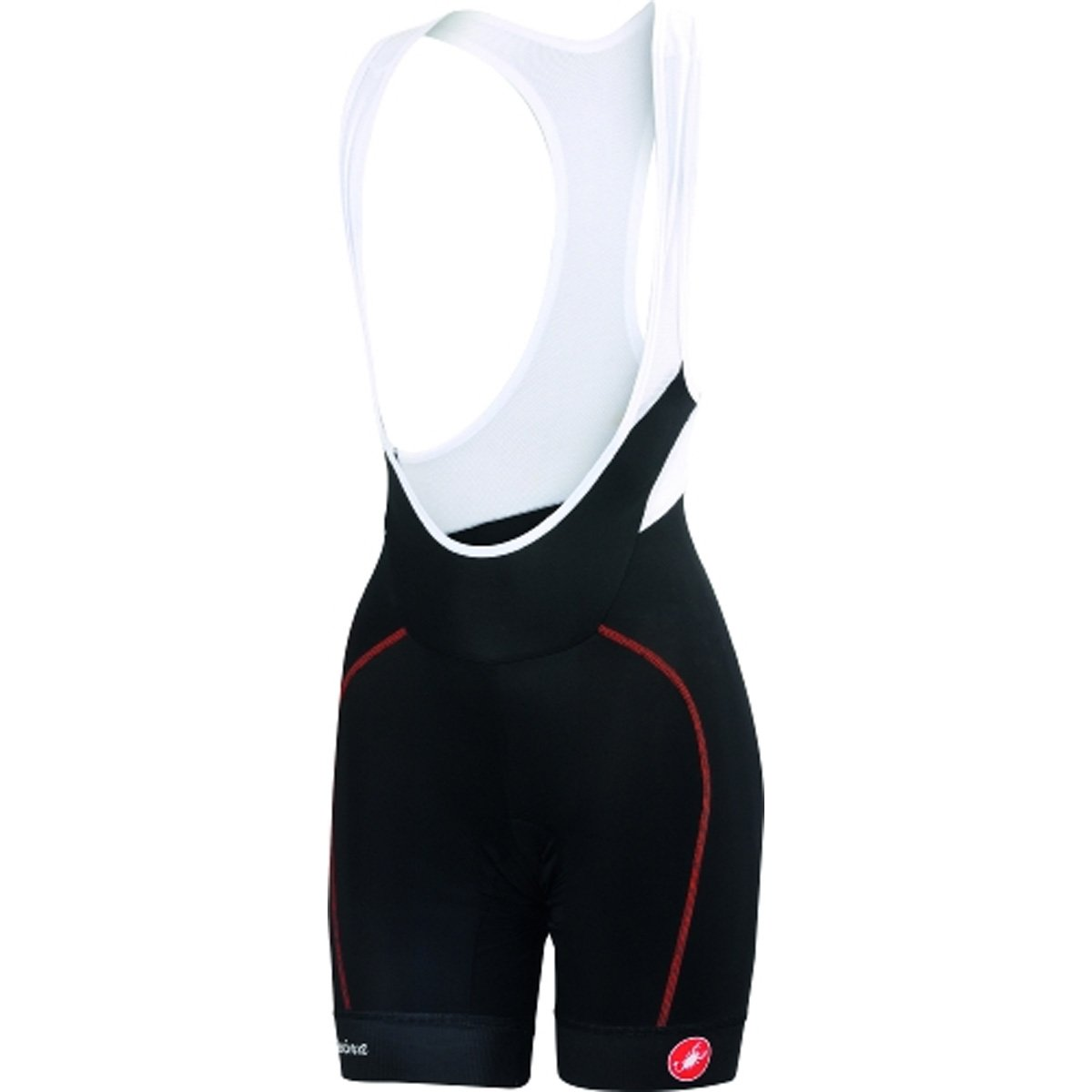 Castelli 2019 Women's Velocissima Bib Cycling Short - L15046 (Black/red - S) by Castelli (Image #1)