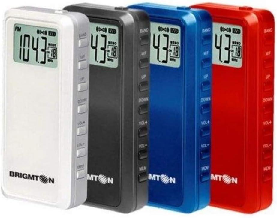 Radio Color Blanco Brigmton BT-124-B Personal Digital Negro Personal, Digital, FM, 87-108 MHz, 3,5 mm, Negro, Blanco