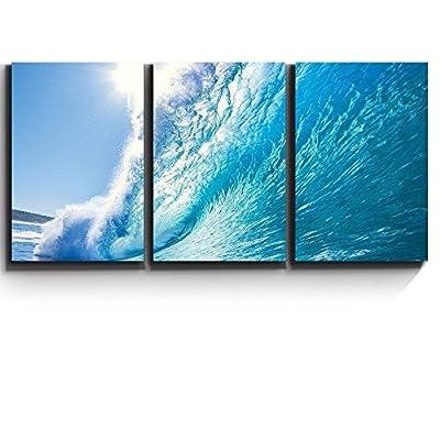 Print Contemporary Art Wall Decor Ocean Wave Surf...