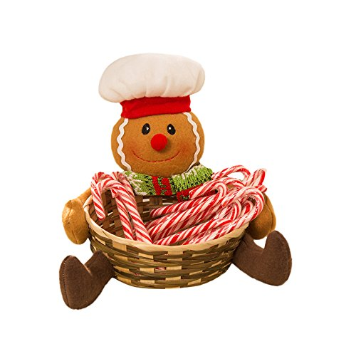 Hot Sales!! ZOMUSA Candy Storage Basket Decoration Santa Claus Storage Basket Christmas Gift (1~A)