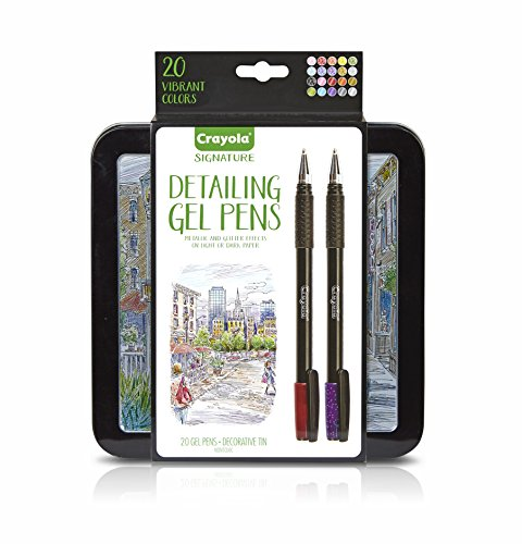 Crayola Signature Detailing Gel Pens, Metallic and Glitter, Art Set, Adult Coloring, Gift JungleDealsBlog.com