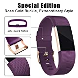 Hotodeal For Fitbit Charge 2 Band, Classic Soft TPU