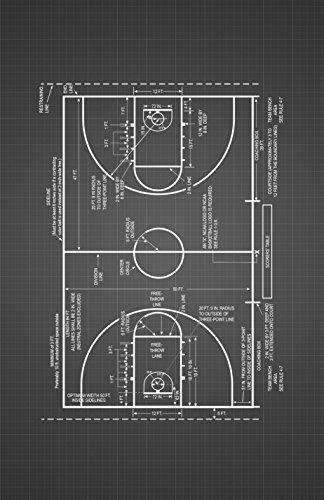 (Framable Patent Art The Original Ready to Frame Décor Vintage Basketball Coach Sidelines 11in by 17in Patent Art Poster Print Black Blueprint)