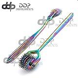 DDP Set of 2 Wartenberg Neurological Pin Wheel Pinwheel 1 & 5 Head Diagnostic Multi Color Rainbow