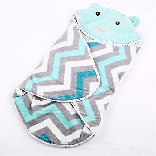 Terryws Winter Newborn Prams Bed Swaddle Blanket Wrap Bedding Cute Newborn Envelope Sleeping Bag Sky Blue