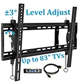 BLUE STONE TV Wall Mount Bracket, Tilt Mounting, 32-83 Inches with Max VESA 600X400 and 165lbs Loading, Fits 16
