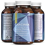 Pure Garcinia Cambogia Extract with 95% HCA -Weight Loss Pills for Women that Work Fast Belly Fat Burner - Hunger Suppressant Pills for Men - Maximum Strength Garcinia Cambogia Weight Loss Pills