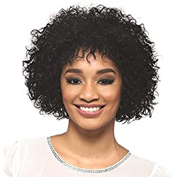 Vivica A Fox Hair Collection Spring Pure Stretch Cap, Premium Remi Human Hair Wig in Color, 1, 9.2 Ounce