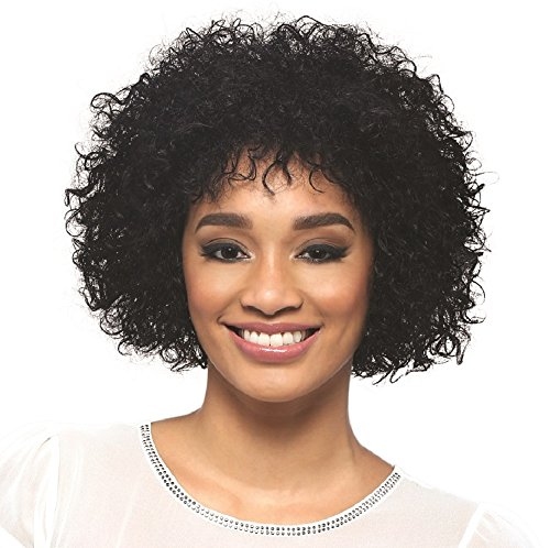 [Vivica A Fox Hair Collection Spring Pure Stretch Cap, Premium Remi Human Hair Wig in Color, Natural, 9.2] (Cornrow Wigs)