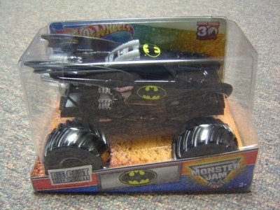 Hot Wheels Monster Jam 1/24 Die Cast Grave Digger 30th Anniversary 2012 Edition Batman Monster Truck (Hot Wheels Monster Jam Grave Digger 30th Anniversary)