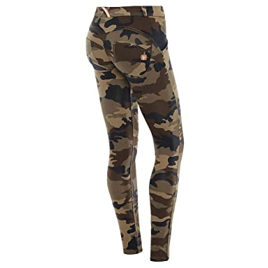 a811f721f9241 UP Camo Pants   Low Waist, Full Length   Fashion Skinny Pants at Amazon  Women's Clothing store: