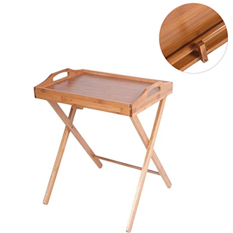 New Folding Wood Portable Tray Table Stand TV Dinner Craft Snack Laptop  Servicing