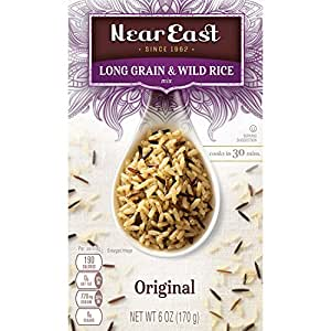 Near East Rice Pilaf Mix, Original Long Grain & Wild Rice, 6oz. (Pack of 12 )