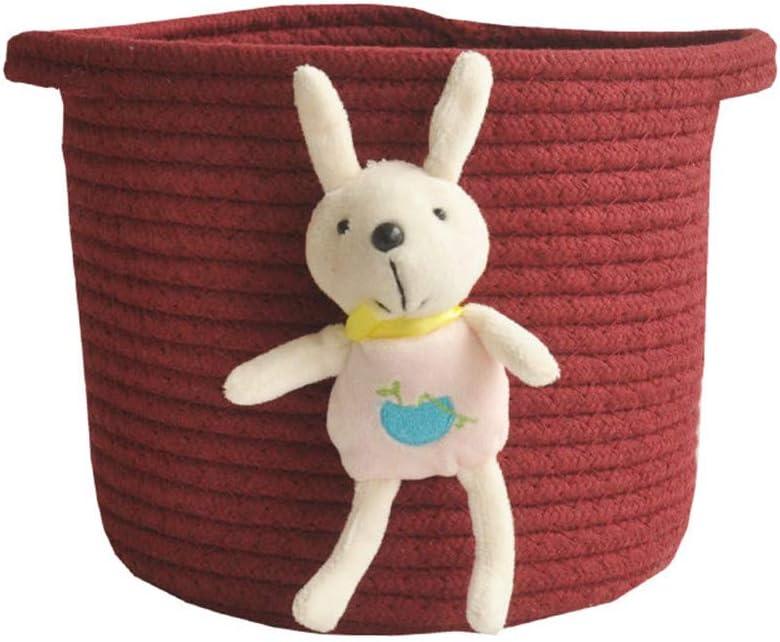 Stil 1 LucaSng Baumwollseil gewebt Aufbewahrungskorb Haushalt Kindergarten Korb Lagerung Stoff Korb Organizer Lagerung f/ür W/äscherei Kindergarten Baby Spielzeug Lagerung