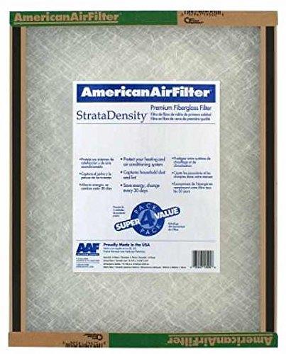 "American Air Filter 20"" X 20"" X 1"" StrataDensity Fiberglass Air Filter - 220-700-051 (Qty 12)"