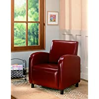 Coaster 900335 Vinyl Accent Chair, Red