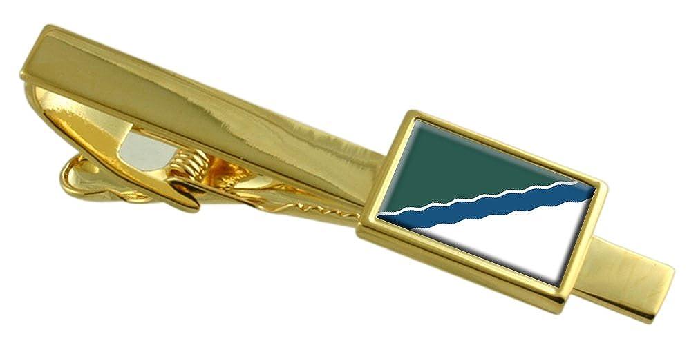 La ciudad de Novosibirsk Rusia Bandera Clip de corbata de oro ...