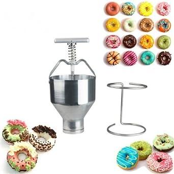 Manual Donut depositantes Dropper émbolo pasta dispensador de masa) Hopper – Molde para casa cocina
