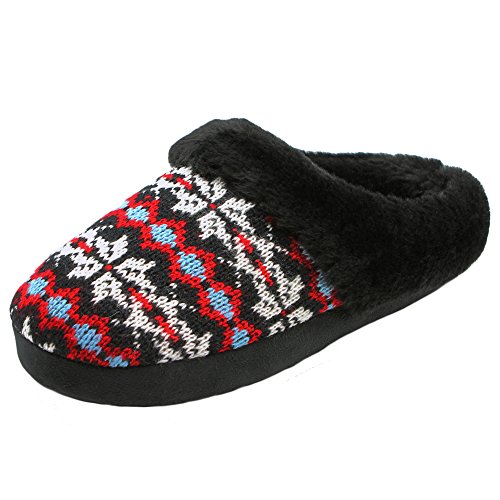 Women Plush Bedroom Slippers Warm Indoor Comfortable Anti-slip Floor House Slippers (M, Snowflake)
