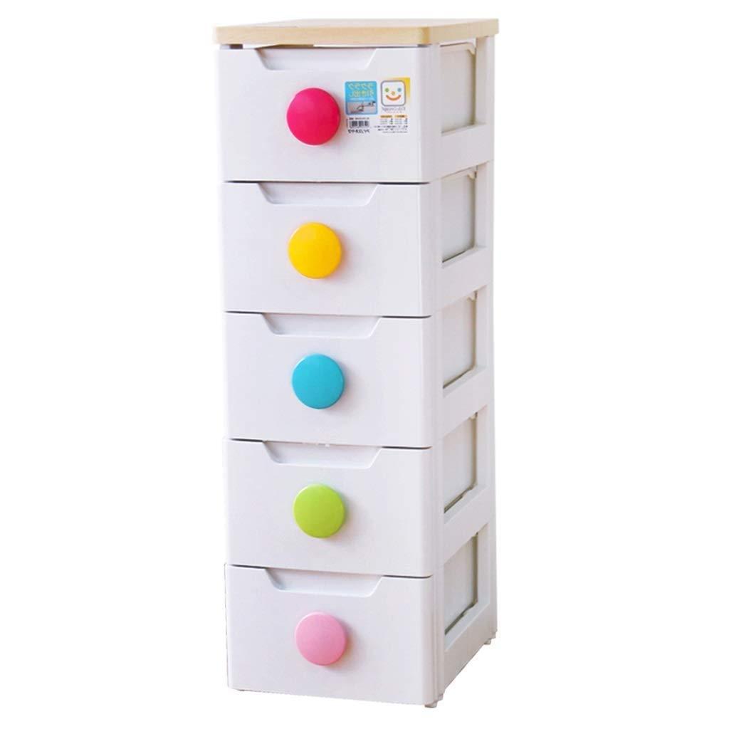 KSW_KKW 5 Fach-Speicher-Schrank, Kinderlagerschrank Multi-Funktions-Kunststoff Farbe Schnalle Schublade Schrank Spielzeug Finishing Kabinett Lagerschrank
