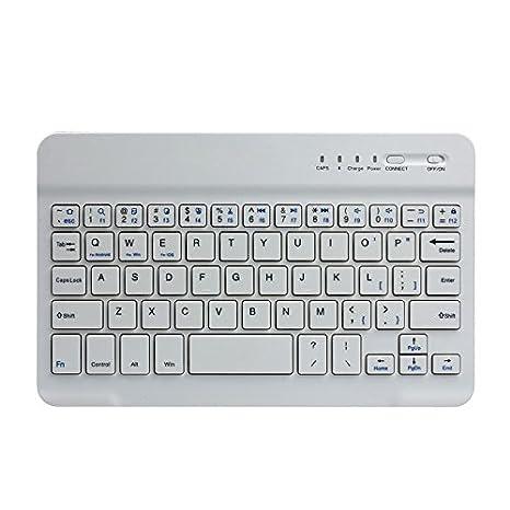 Inalámbrico teclados, weant Ultra Slim portátil inalámbrico Bluetooth teclado integrado de polímero de litio impermeable antideslizante ahorro de energía ...