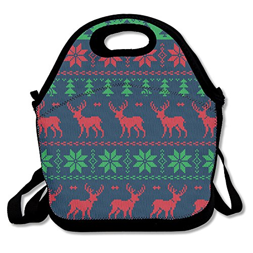 YOYO Christmas Indoor Picnic Insulated Fashion Lunch Tote Bag For (Pussycat Christmas Costumes)