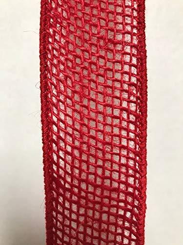 (Iliogine Wood Plaque Red Burlap Ribbon Burlap Ribbon Wreath Supplies Ribbon Wreath Ribbon Craft Supplies Craft Ribbon Fall Ribbon Christmas Ribbon Wired Ribbon Wall Decor Wood Sign )