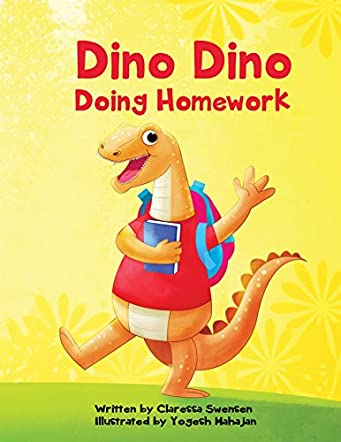 Dino Dino Doing Homework