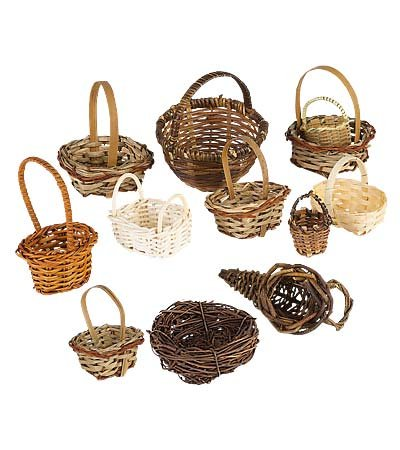 Darice Willow Basket: Natural, 3.5 Inches, Styles Vary, 1 Piece