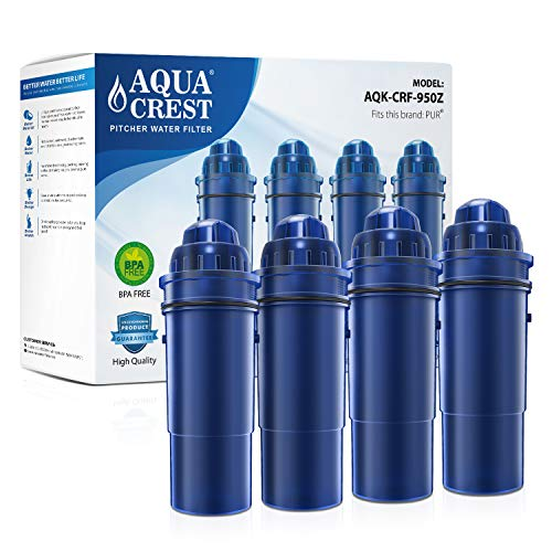 Cheapest Price! AQUACREST CRF-950Z Pitcher Water Filter, Compatible with Pur Pitchers and Dispensers...