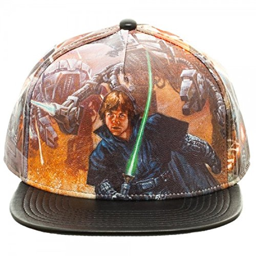 Star Wars Sublimated All Over Print PU Faux Leather - Leather Wars Hat Star