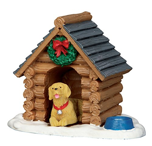 Lemax Village Collection Log Cabin Dog House - Village Lemax Houses