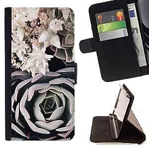 BLACK WHITE ROSE FLOWER ART COMPOSITION/ Personalizada del estilo del dise???¡Ào de la PU Caso de encargo del cuero del tir????n del soporte d - Cao - For Samsung Galaxy S4 IV I9500