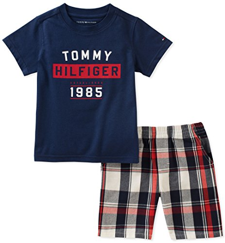 Tommy Hilfiger Boys' Toddler 2 Pieces Shorts Set, Navy, 4T