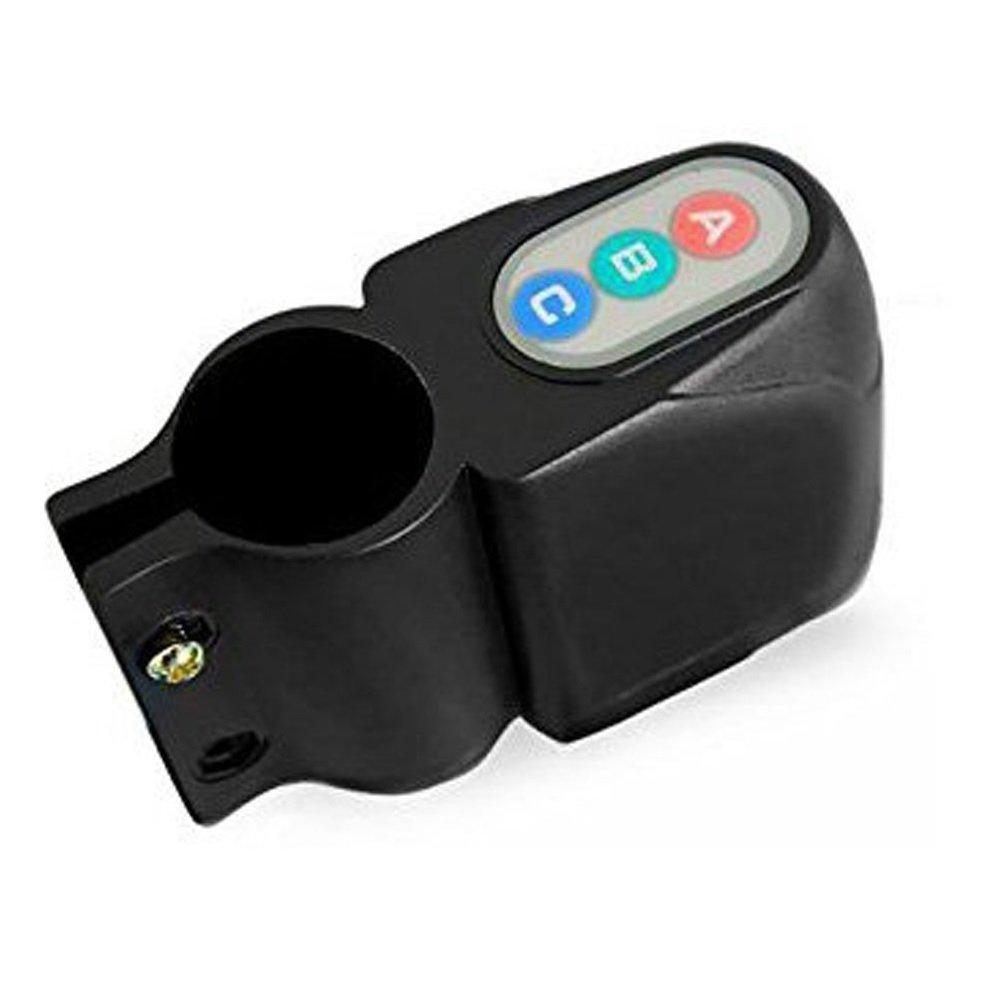 Alarma Bicicleta Sonora Antirrobo Contrase/ña Sensor Vibraciones Sirena Seguridad Electr/ónica Rey/®