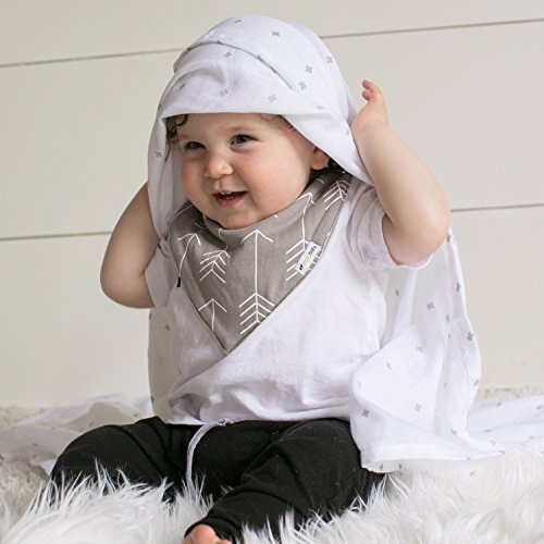 Ziggy Baby Muslin Swaddle Blankets 47x47 3 Pack Chevron