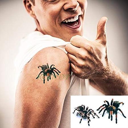 Impermeable Etiqueta Engomada del Tatuaje Temporal 3D Miedo ...