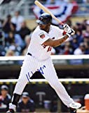 Kennys Vargas Signed Photo - At Bat 8x10 M4 - JSA Certified - Autographed MLB Photos