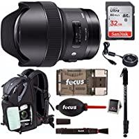 Sigma 14mm f/1.8 DG HSM Art Lens for CANON EF w/ Sigma USB Dock & Premium Photo & Travel Bundle