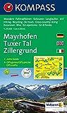 Carta escursionistica n. 037. Austria. Tirolo... Mayrhofen, Tuxer tal, Zillergrund 1:25.000. Con carta panoramica. Adatto a GPS. Dig. map. DVD-ROM. ... Wandelkaart 1:50 000 (Carte de Randon)