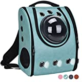 #10: Pet Carrier Backpack Space Capsule Bag Airline Travel Approved for Cats and Dogs by Masvis(Green)