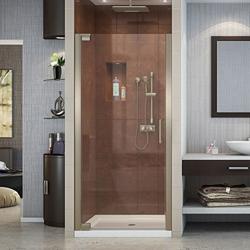 DreamLine Elegance 27-29 in. Width, Frameless Pivot Shower Door, 3/8