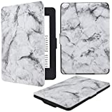 HOTCOOL Kindle Paperwhite Case - PU Leather Smart Cover Case For Amazon Kindle Paperwhite (Fits all 2012, 2013, 2015 and 2016 Versions), Marble