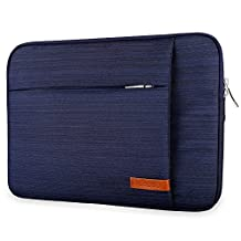 Lacdo 13-13.3 Inch Laptop Sleeve for MacBook Pro Retina/ MacBook Air/ 12.9 Inch iPad Pro, Chromebook Notebook Bag Tablet Case, Water Repellent, Blue
